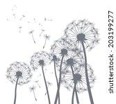 vector illustration of dandelion | Shutterstock .eps vector #203199277
