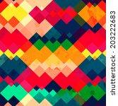 Rainbow Zigzag Seamless Textur...