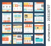 vector set of flat website...