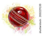 cricket ball   Shutterstock .eps vector #203229133
