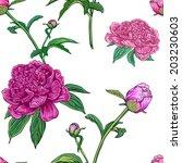 vintage floral seamless pattern ... | Shutterstock . vector #203230603
