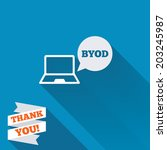 byod sign icon. bring your own...   Shutterstock .eps vector #203245987