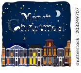 vector illustration of winter... | Shutterstock .eps vector #203249707