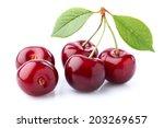 cherry in closeup | Shutterstock . vector #203269657