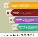 banner infographic elements | Shutterstock .eps vector #203280217