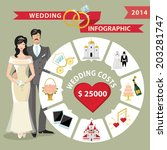 Wedding Infographic Set With...