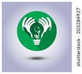 vector eco sticker  green... | Shutterstock .eps vector #203284927