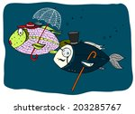 a couple of fish lady and the... | Shutterstock . vector #203285767
