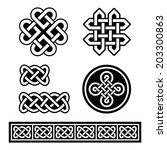 celtic irish patterns and...   Shutterstock .eps vector #203300863