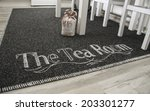 embroidery on the carpet ... | Shutterstock . vector #203301277