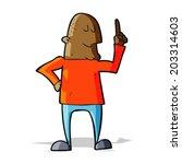 cartoon man pointing finger | Shutterstock .eps vector #203314603
