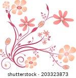 pink flower arrangement | Shutterstock .eps vector #203323873