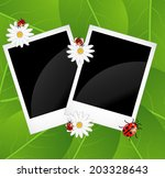 background  with flowers and... | Shutterstock .eps vector #203328643