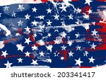 us patriotic background texture | Shutterstock . vector #203341417