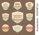 vintage vector design elements. ... | Shutterstock .eps vector #203348713