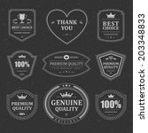 vintage vector design elements. ... | Shutterstock .eps vector #203348833
