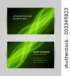 business card vector design... | Shutterstock .eps vector #203349823