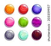 color bubblesballs set on the... | Shutterstock .eps vector #203359957