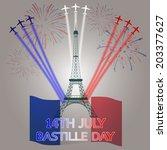 14th july bastille day of france | Shutterstock .eps vector #203377627