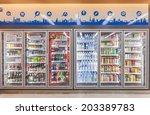 bangkok   july07  the shelf at... | Shutterstock . vector #203389783