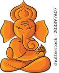 lord ganesha  | Shutterstock .eps vector #203397607