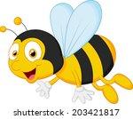 bee cartoon flying | Shutterstock .eps vector #203421817