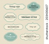 vector set of vintage frames | Shutterstock .eps vector #203430607