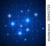hi tech signals in wires ...   Shutterstock .eps vector #203431723