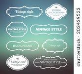 set of vintage frames on a soft ...   Shutterstock .eps vector #203439523