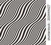 abstract  wavy striped seamless ... | Shutterstock .eps vector #203449627