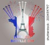 14th july bastille day of france | Shutterstock .eps vector #203459797