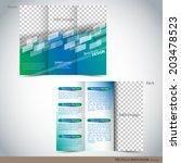 tri folder brochure   leaflet...   Shutterstock .eps vector #203478523