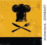 cooking yellow design grunge... | Shutterstock .eps vector #203482657
