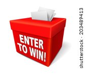 Enter To Win Words On A Red Bo...