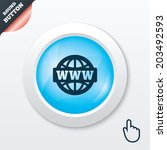 www sign icon. world wide web...