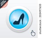 women sign. women's shoe icon....