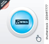 wma music format sign icon....
