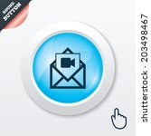 video mail icon. video camera...