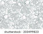 vintage floral seamless pattern ... | Shutterstock . vector #203499823