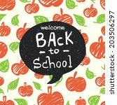 back to school doodle... | Shutterstock .eps vector #203506297
