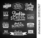 back to school calligraphic... | Shutterstock .eps vector #203511967