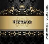 vintage background  antique ... | Shutterstock .eps vector #203514883