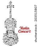 Creative Vector Violin Concert...