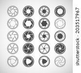 camera shutter icon set  each... | Shutterstock .eps vector #203517967