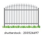 iron gate  vector illustration.