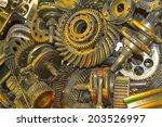 gear bearing metal parts plant  ... | Shutterstock . vector #203526997