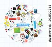 back to school concept   school ... | Shutterstock .eps vector #203532163