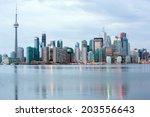 Toronto Skyline At Dusk ...