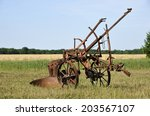 Very Old Farm Equipment In...