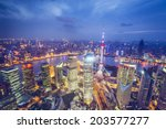 shanghai  china aerial view of... | Shutterstock . vector #203577277
